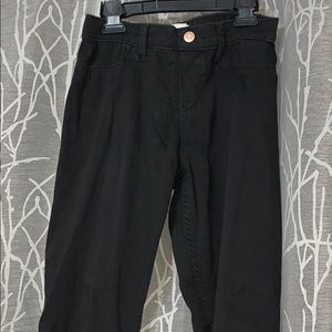 Abercrombie pull on black jeggings